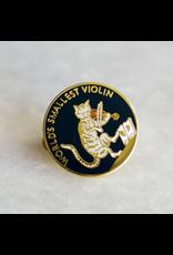 Stay Home Club Smallest Violin Lapel Pin