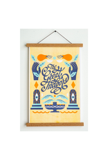 """Stay Home Club Great Indoors Riso Print - 11""""x17"""""""