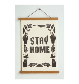 """Stay Home Club Stay Home Type Riso Print - 11""""x17"""""""