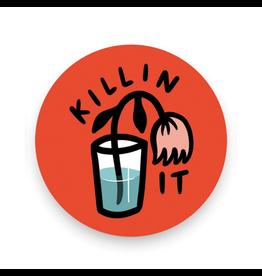 Stay Home Club Killing It Vinyl Sticker