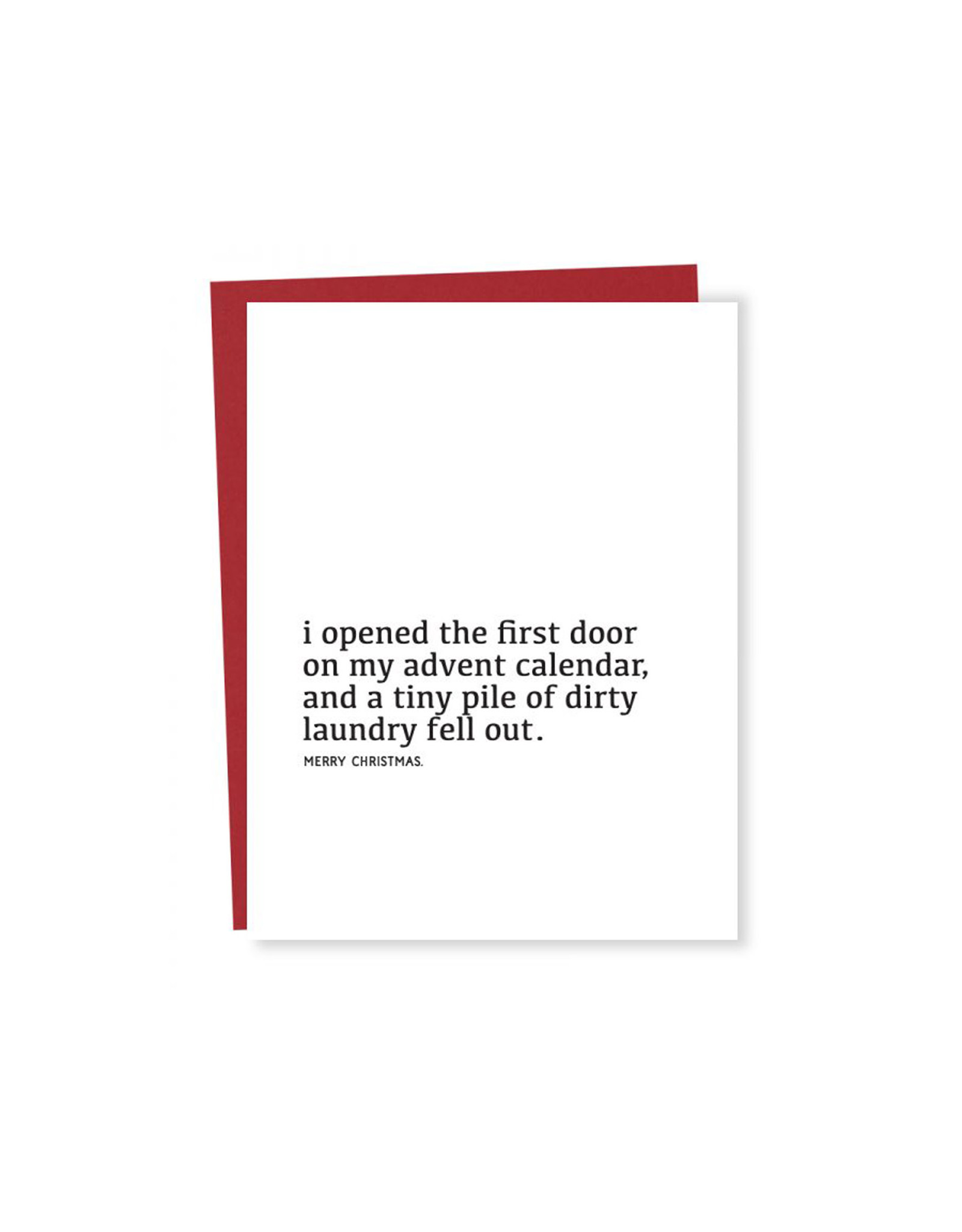 Sapling Press Dirty Laundry Advent Holiday Card