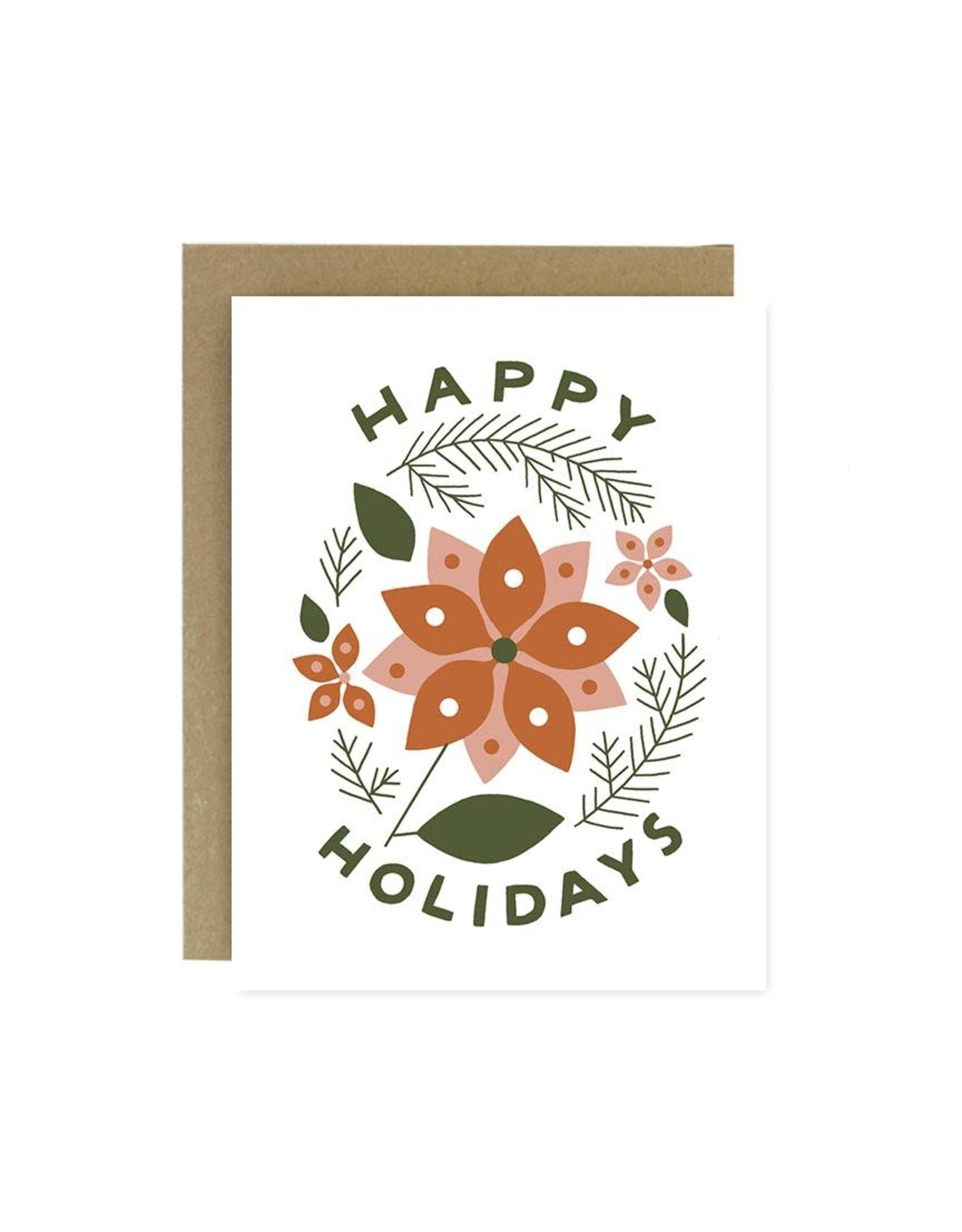 Worthwhile Paper Card, Poinsettia