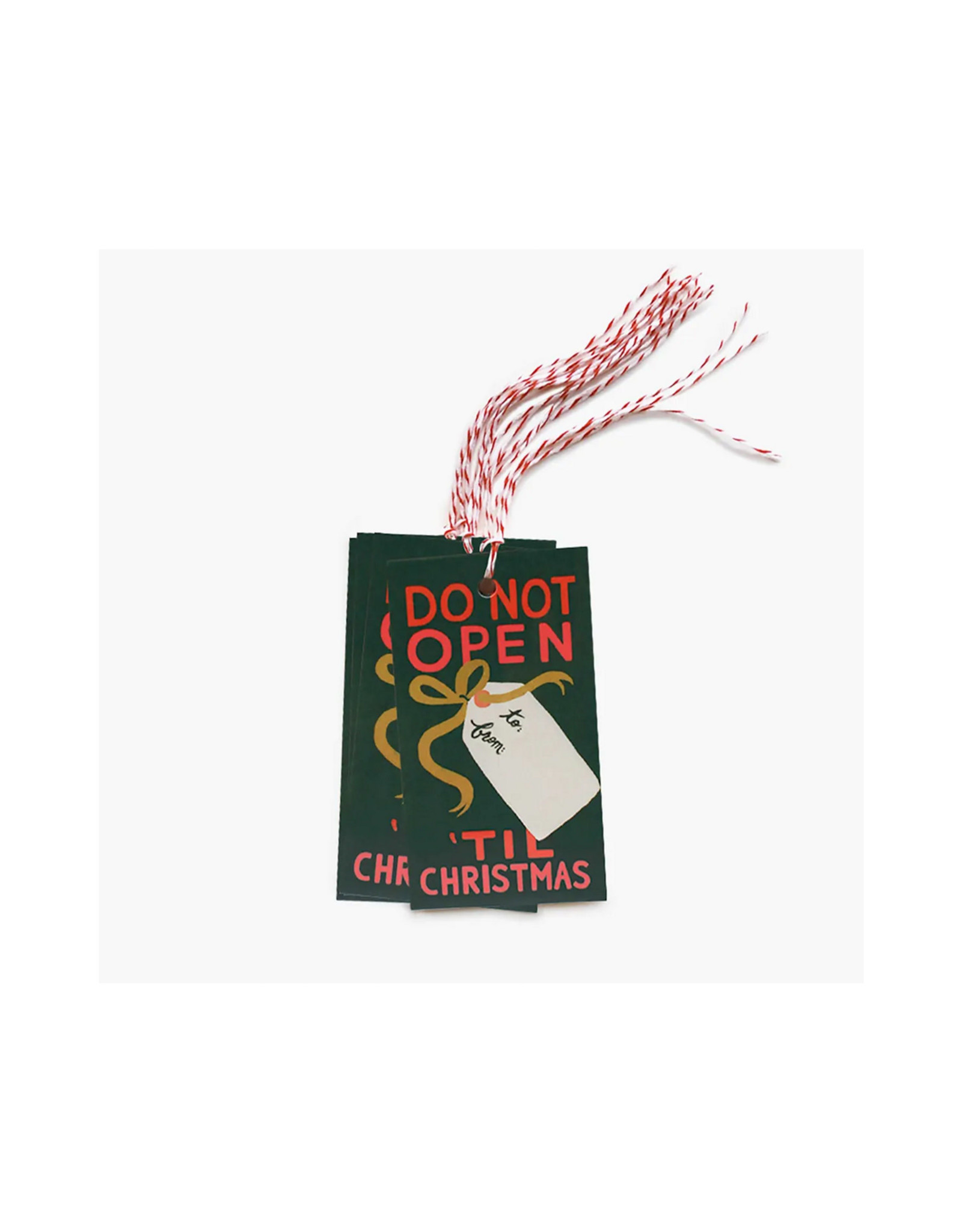 Rifle Paper Co. Do Not Open 'Til Christmas Gift Tags, Pack of 10