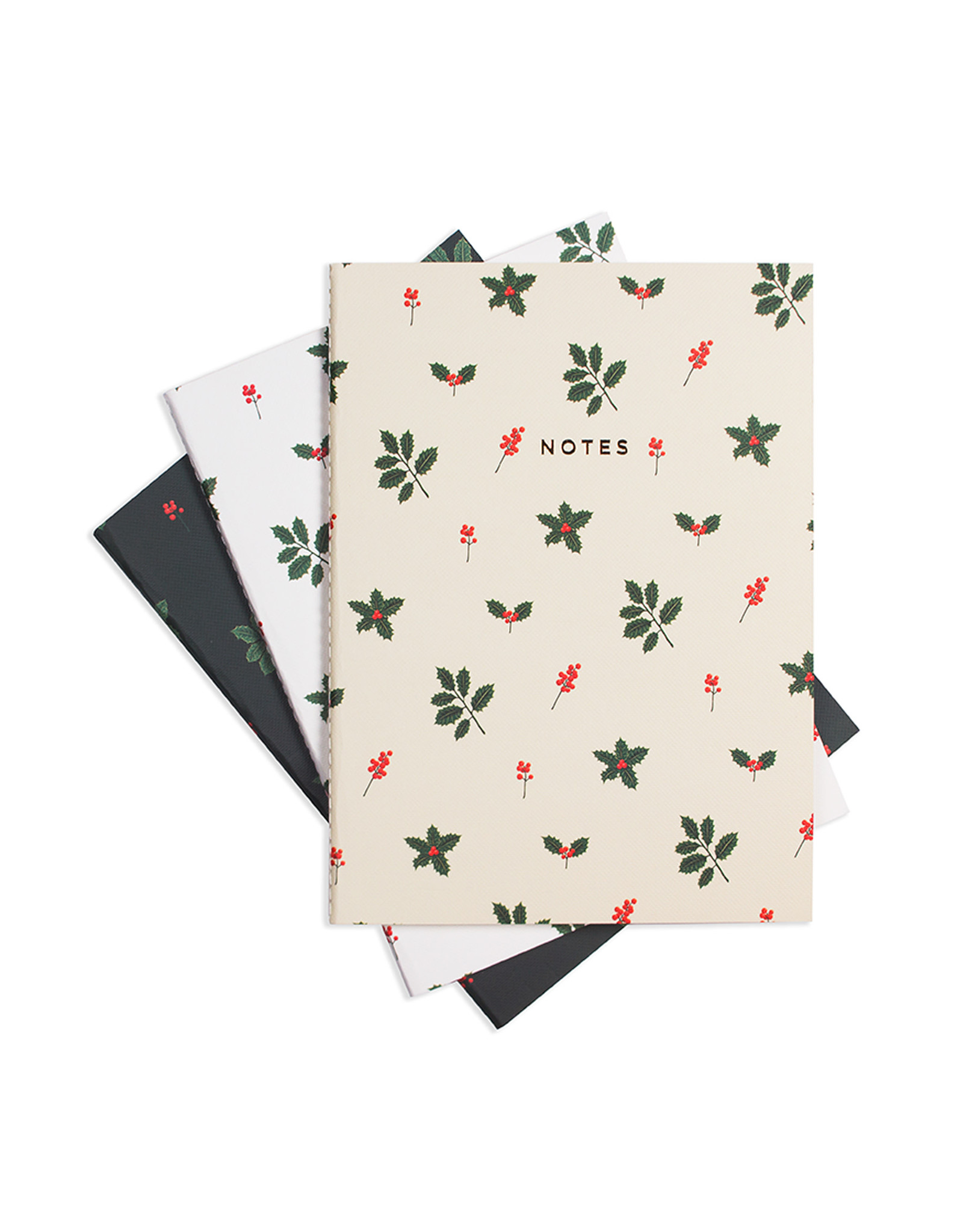 Hadron Holly Jolly Notebook Set of 3