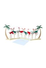 Meri Meri Festive Flamingo Card
