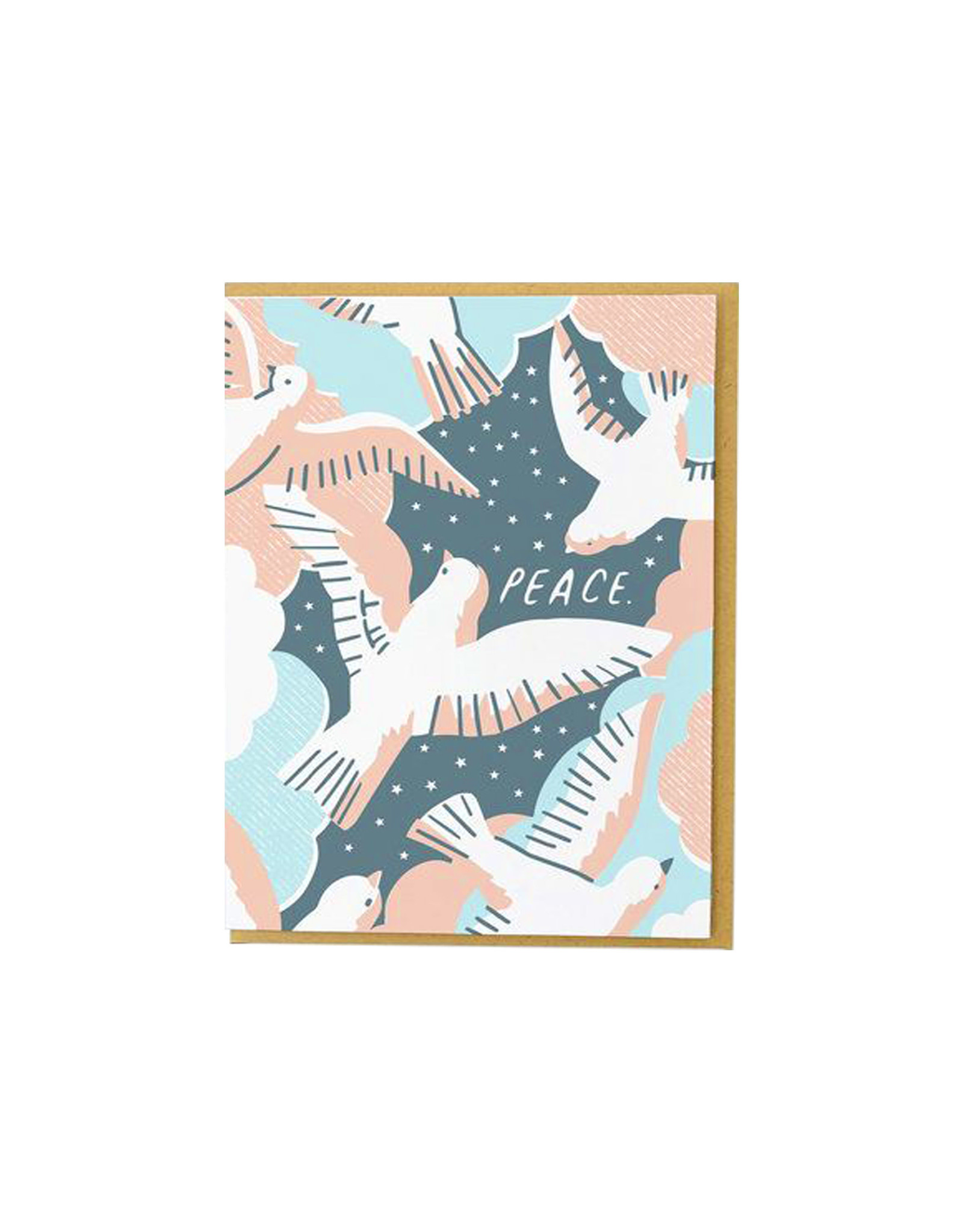 Hello Lucky Flock Of Doves Card