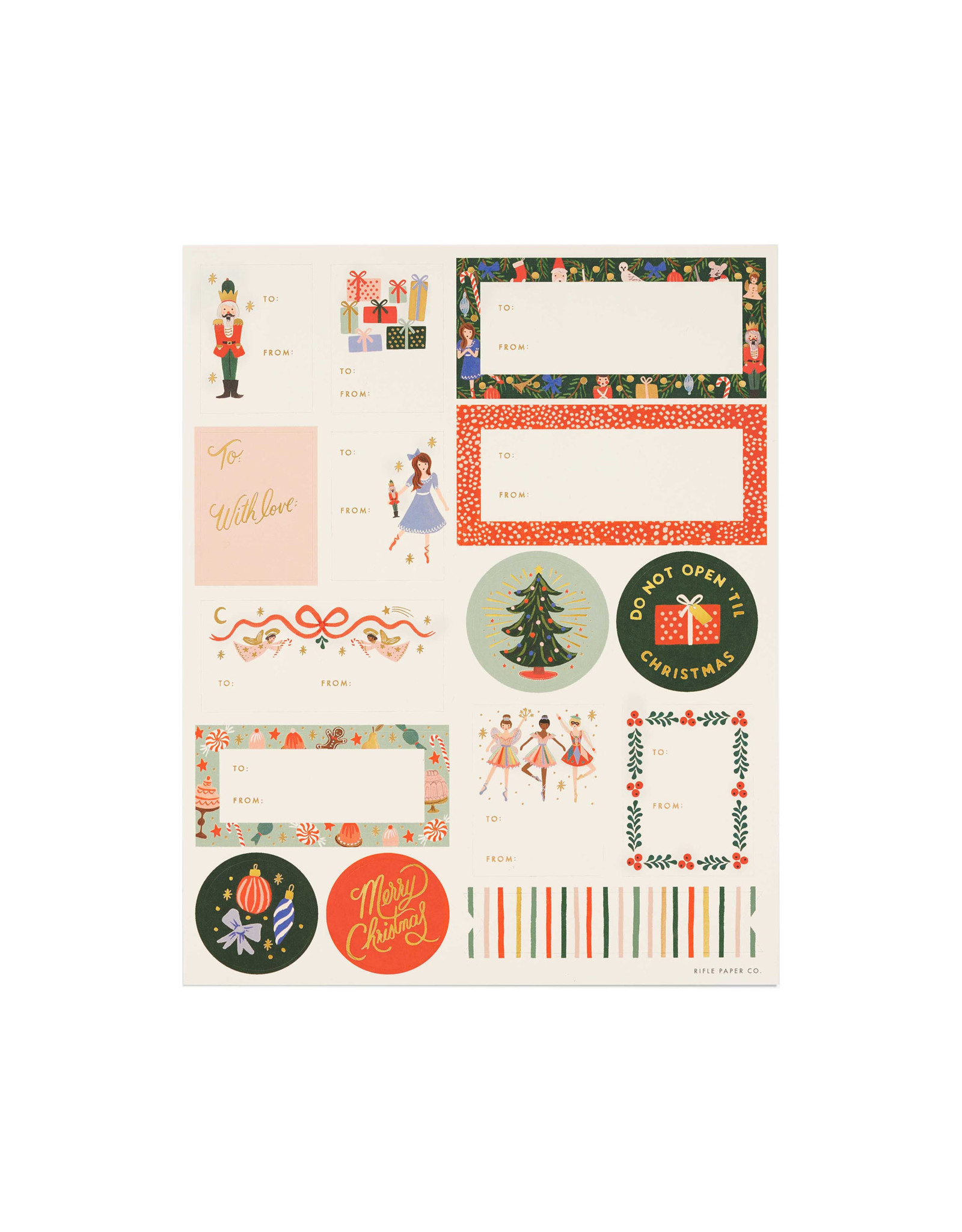 Rifle Paper Co. Pack of 3 Nutcracker Stickers and Labels