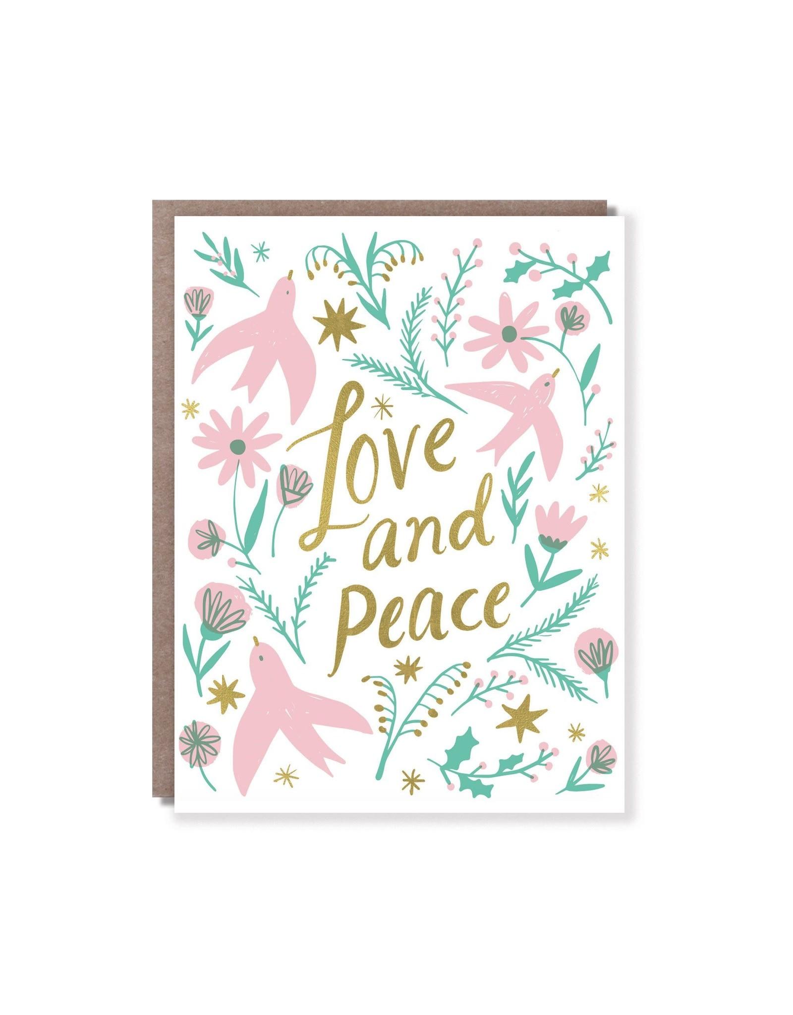Hello Lucky Love And Peace Card