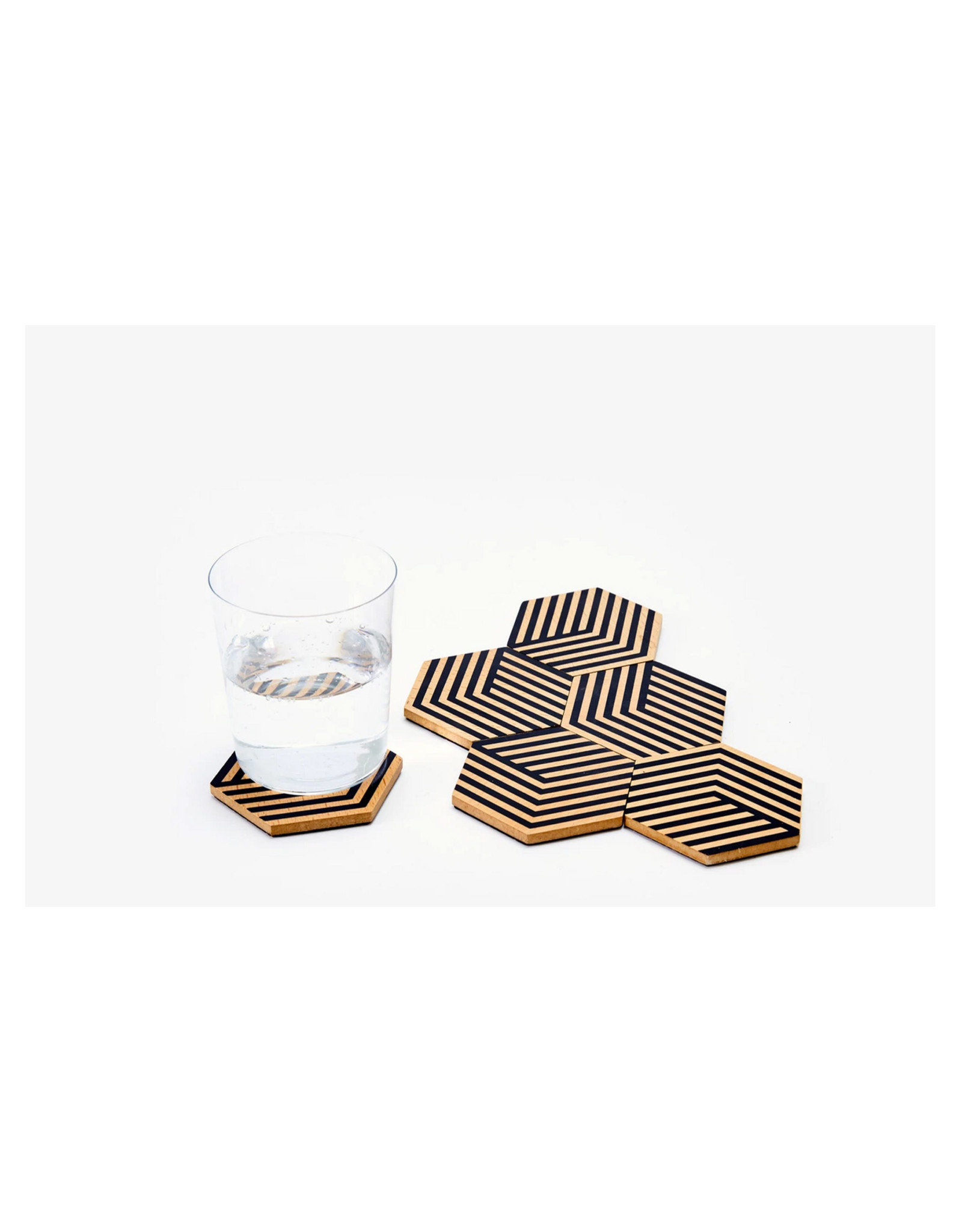 Areaware Table Tiles, Black Optical