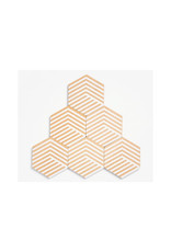 Areaware Table Tiles, White Optical