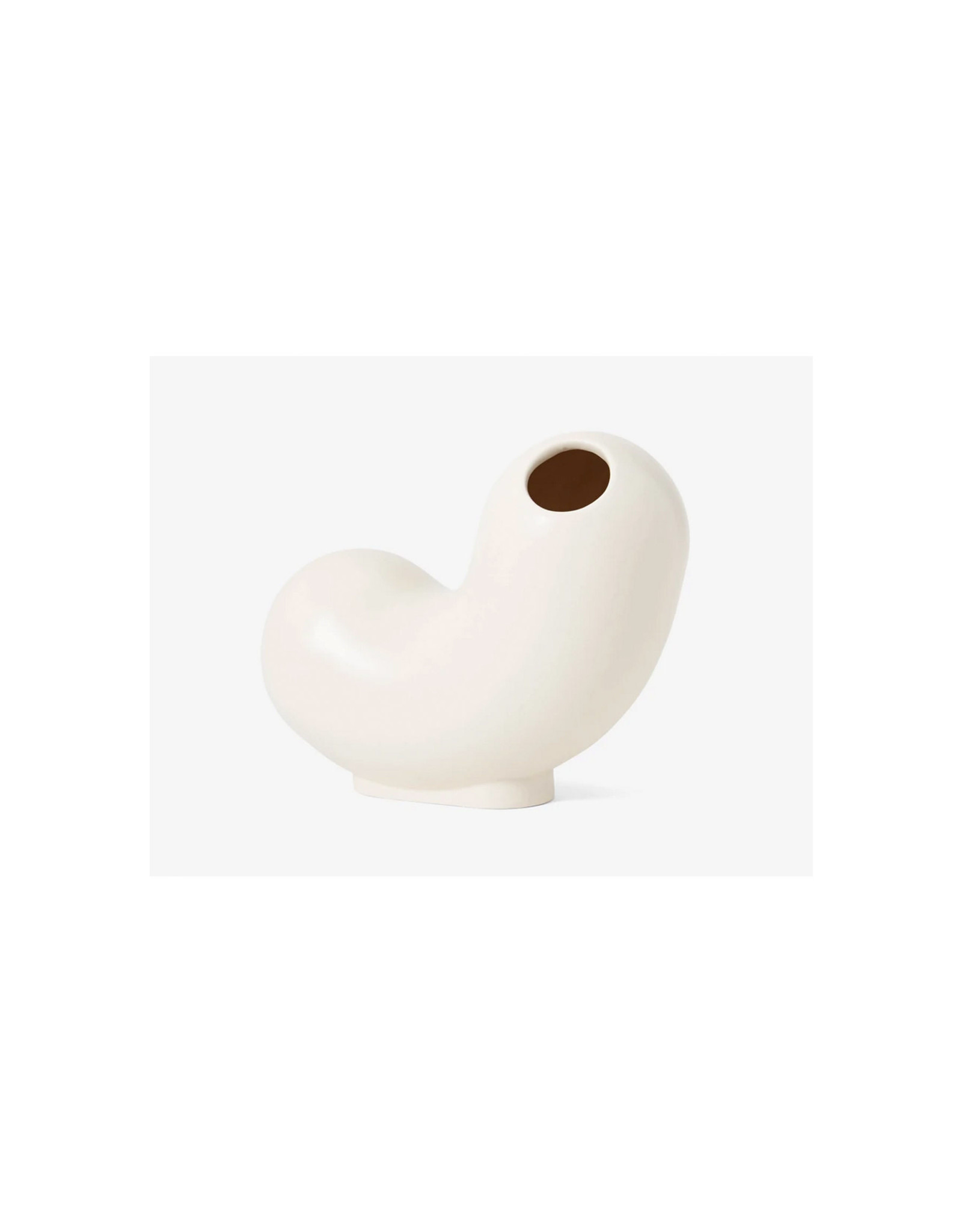 Areaware Kirby Vase, Curly, White