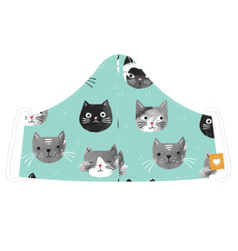 Danica Junior Take Cover Face Masks, Cats Meow
