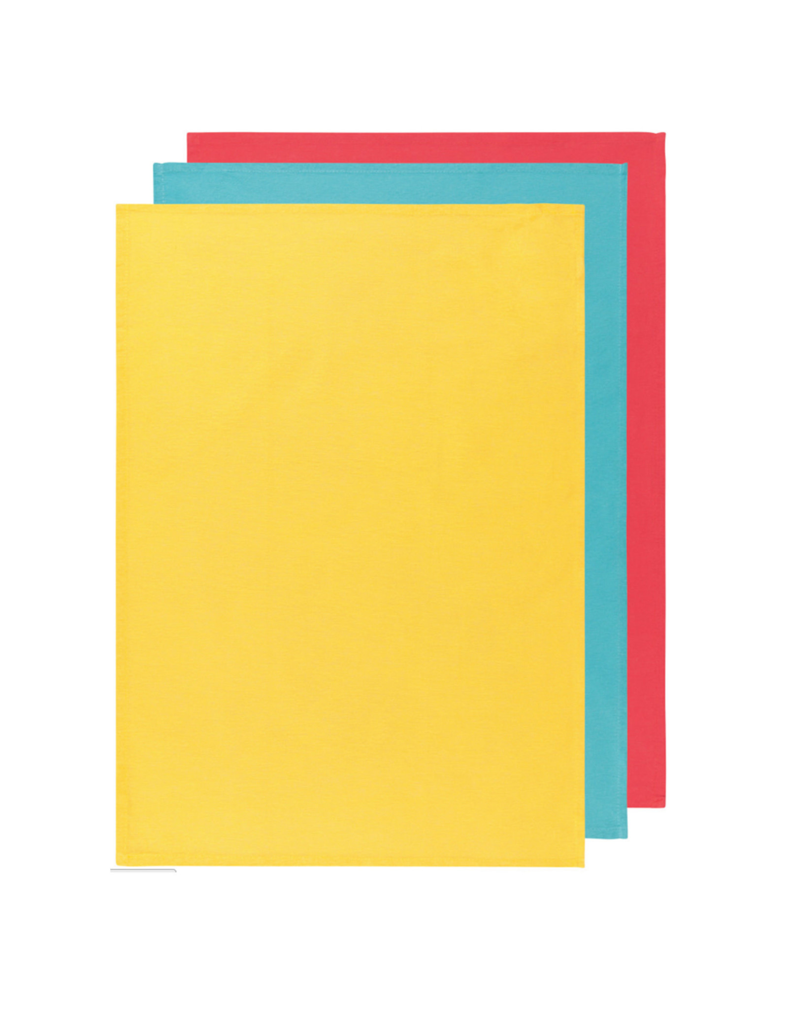 Danica Floursack Dishtowels Lemon/Turquoise/Grenadine