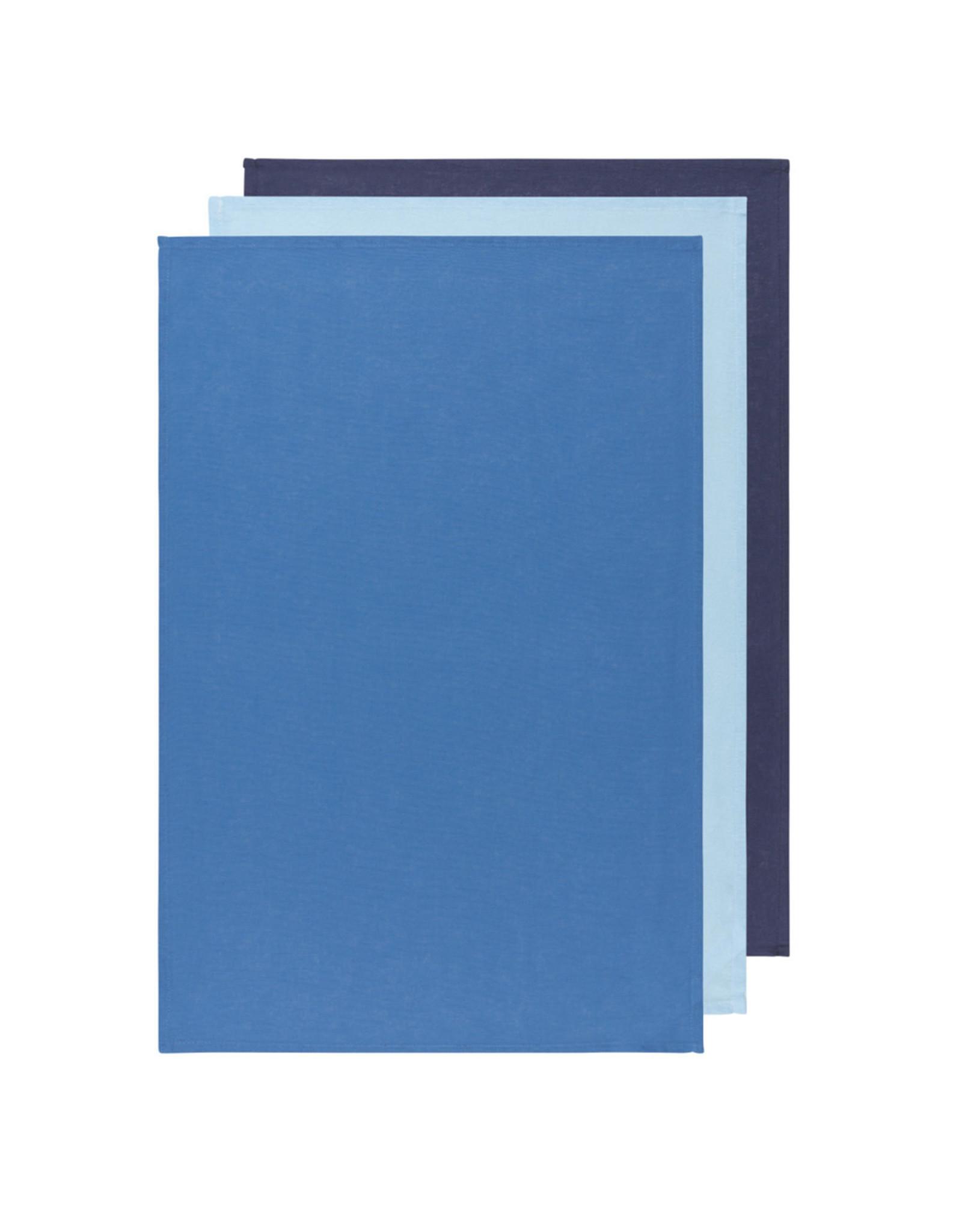 Danica Floursack Dishtowels, Indigo/Moonlight/Blue