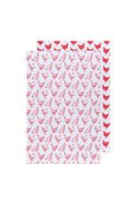 Danica Floursack Dishtowels, Set of 2, Red
