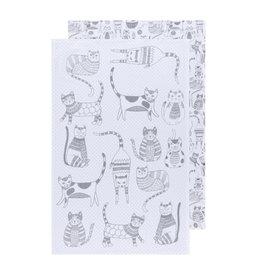 Danica Floursack Dishtowels, Set of 2, London Gray