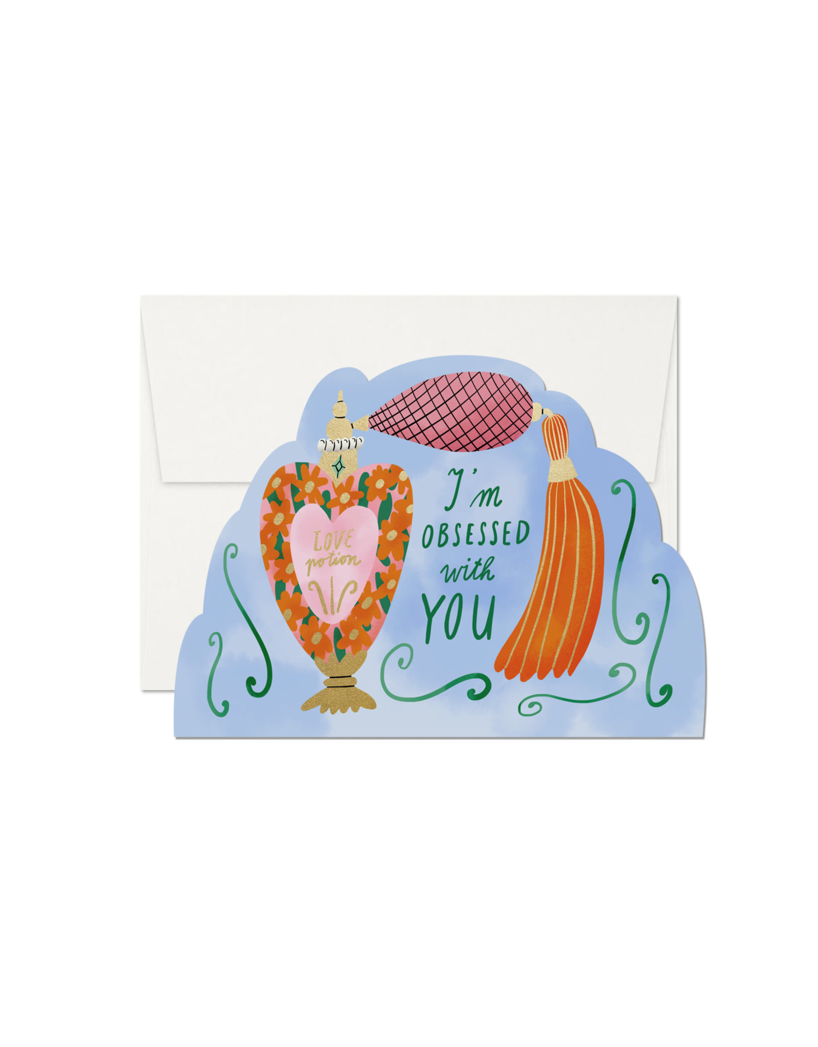 Red Cap Love Potion Obsessed with You Card