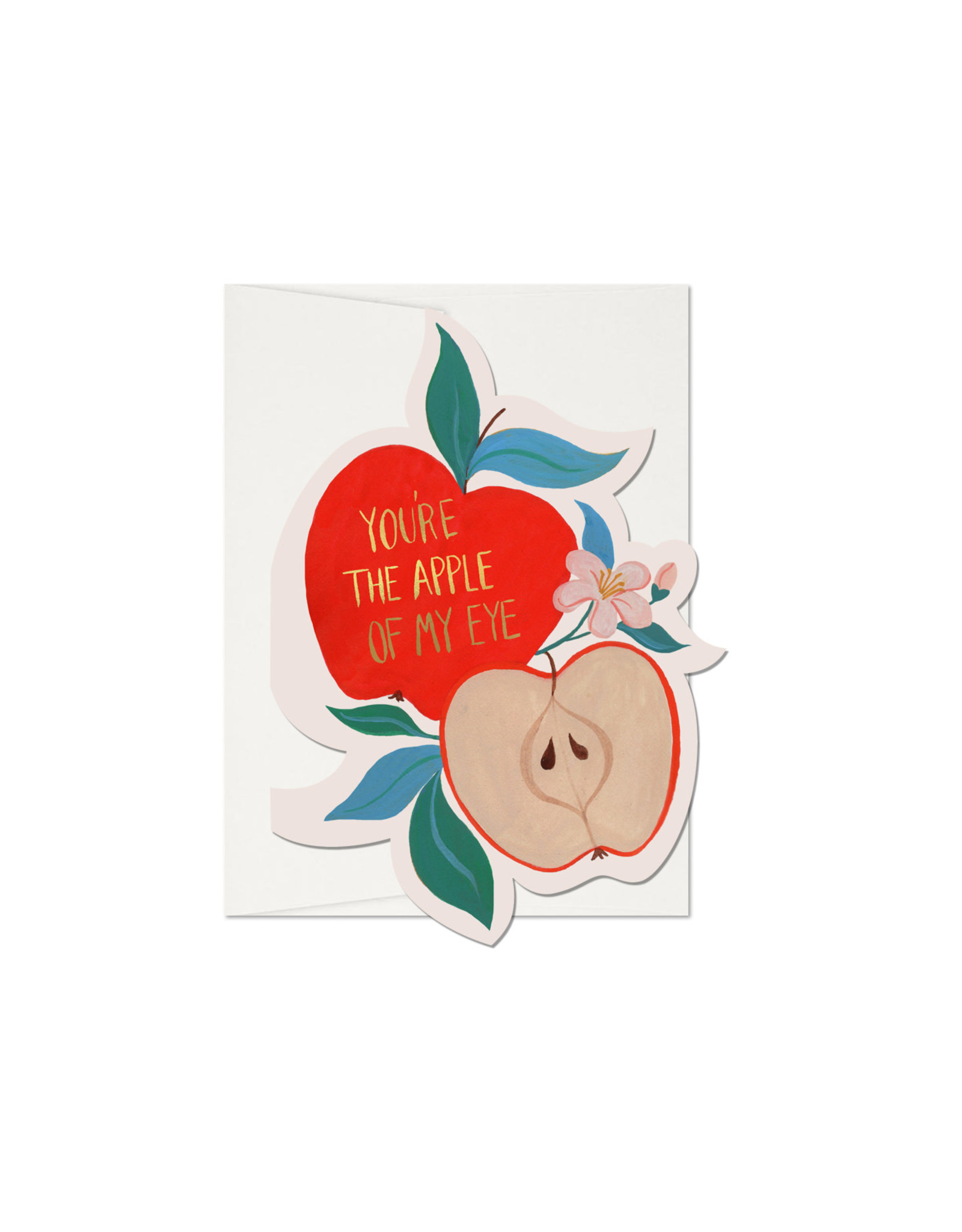 Red Cap You're the Apple of My Eye Card