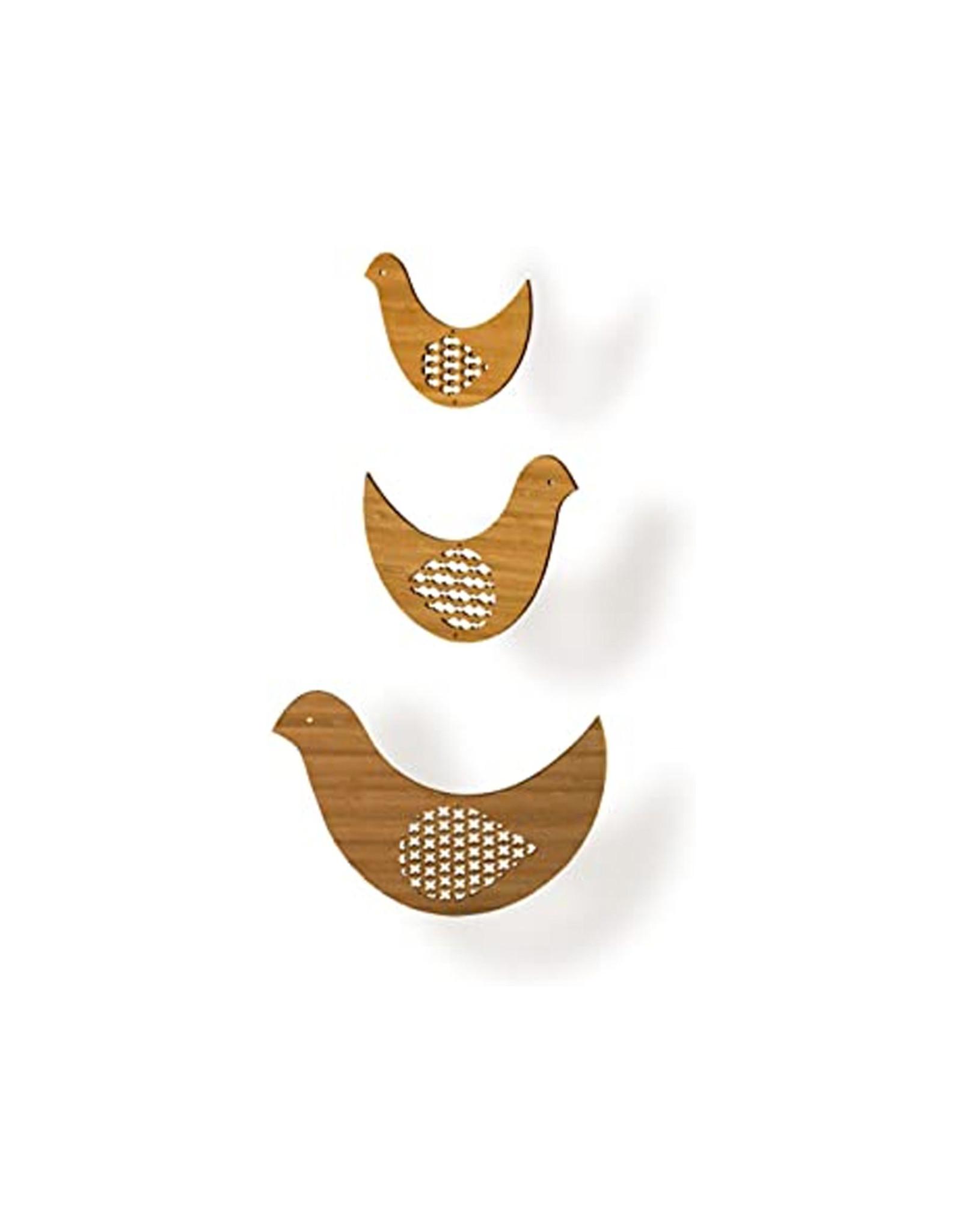 Petit Collage Bamboo Bird Trio Mobile