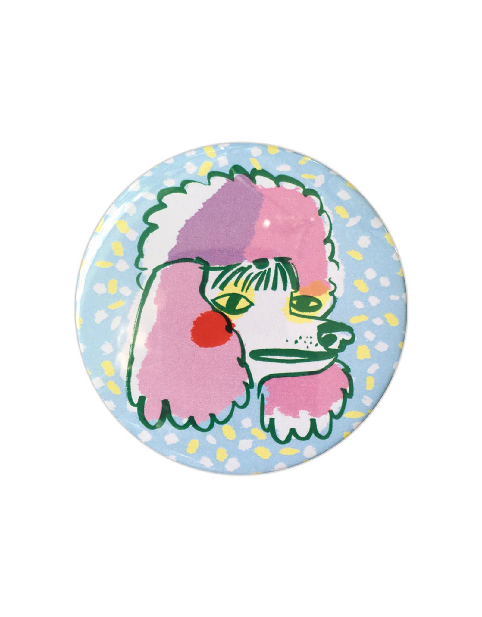 Draw Me a Lion Poodle Pocket Mirror