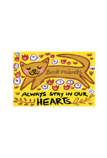 Draw Me A Lion, Best Friends Always Stay In Our Hearts Cat Card