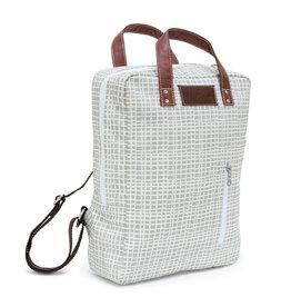 Maika Laptop Backpack, Woven Grey