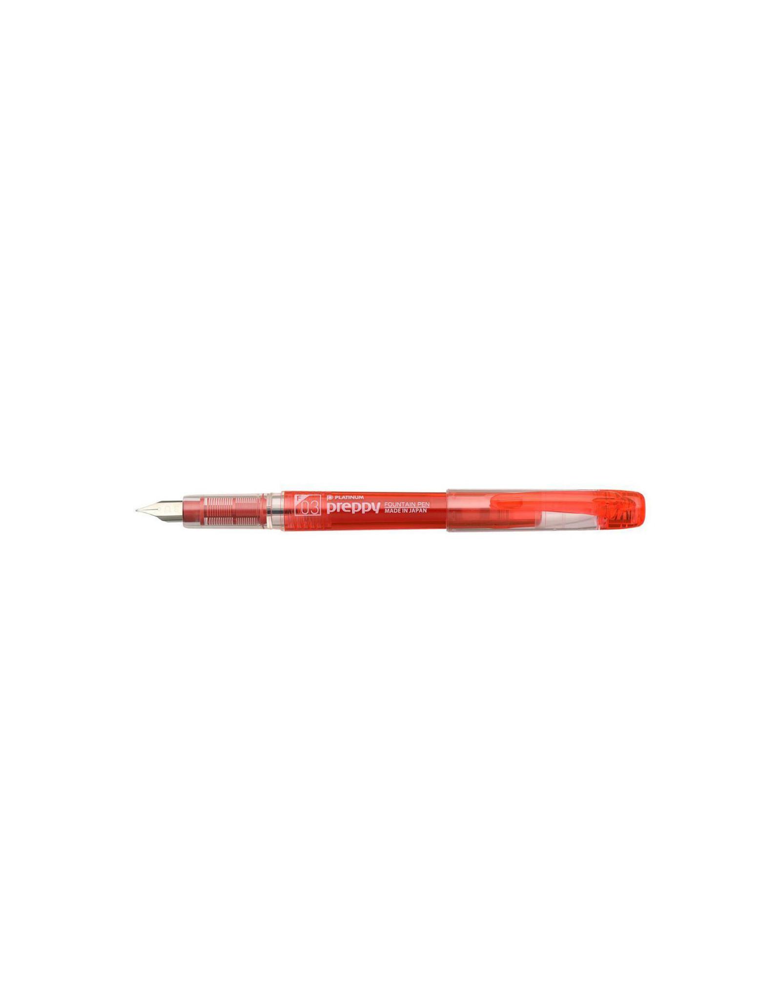 Preppy Fountain Pen, 03 Fine, Red