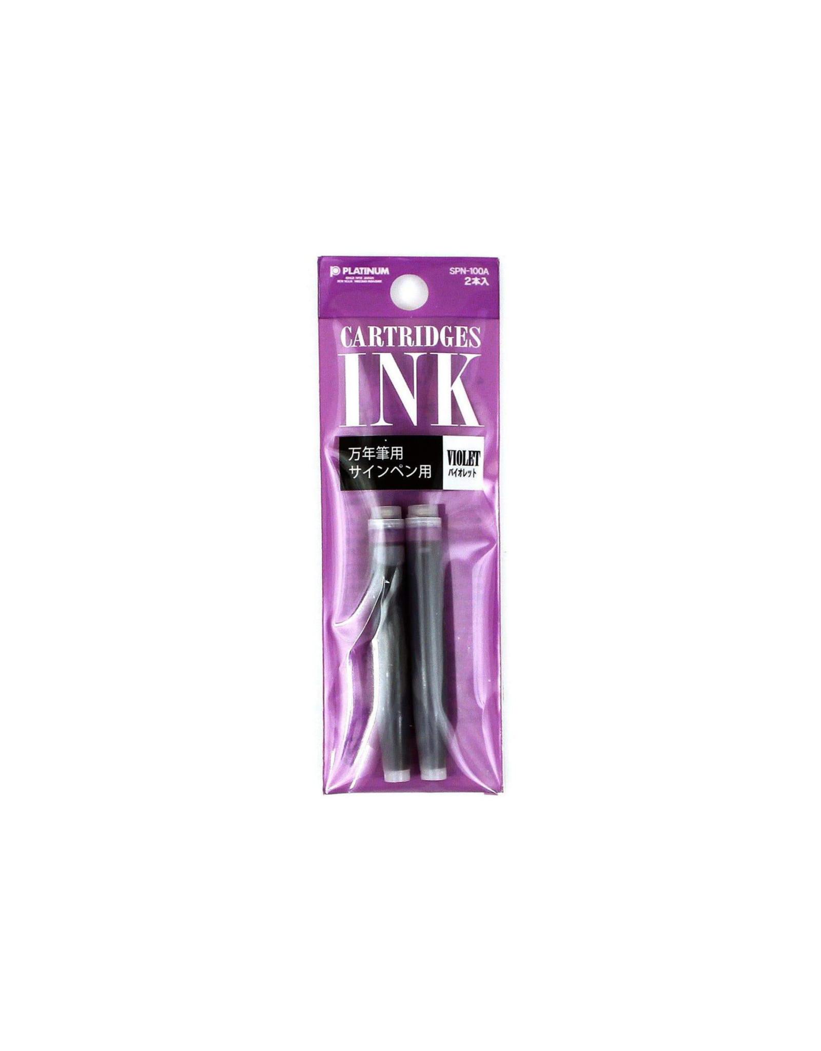 Preppy Fountain Pen, Purple Refill Ink Cartridges (set of 2)