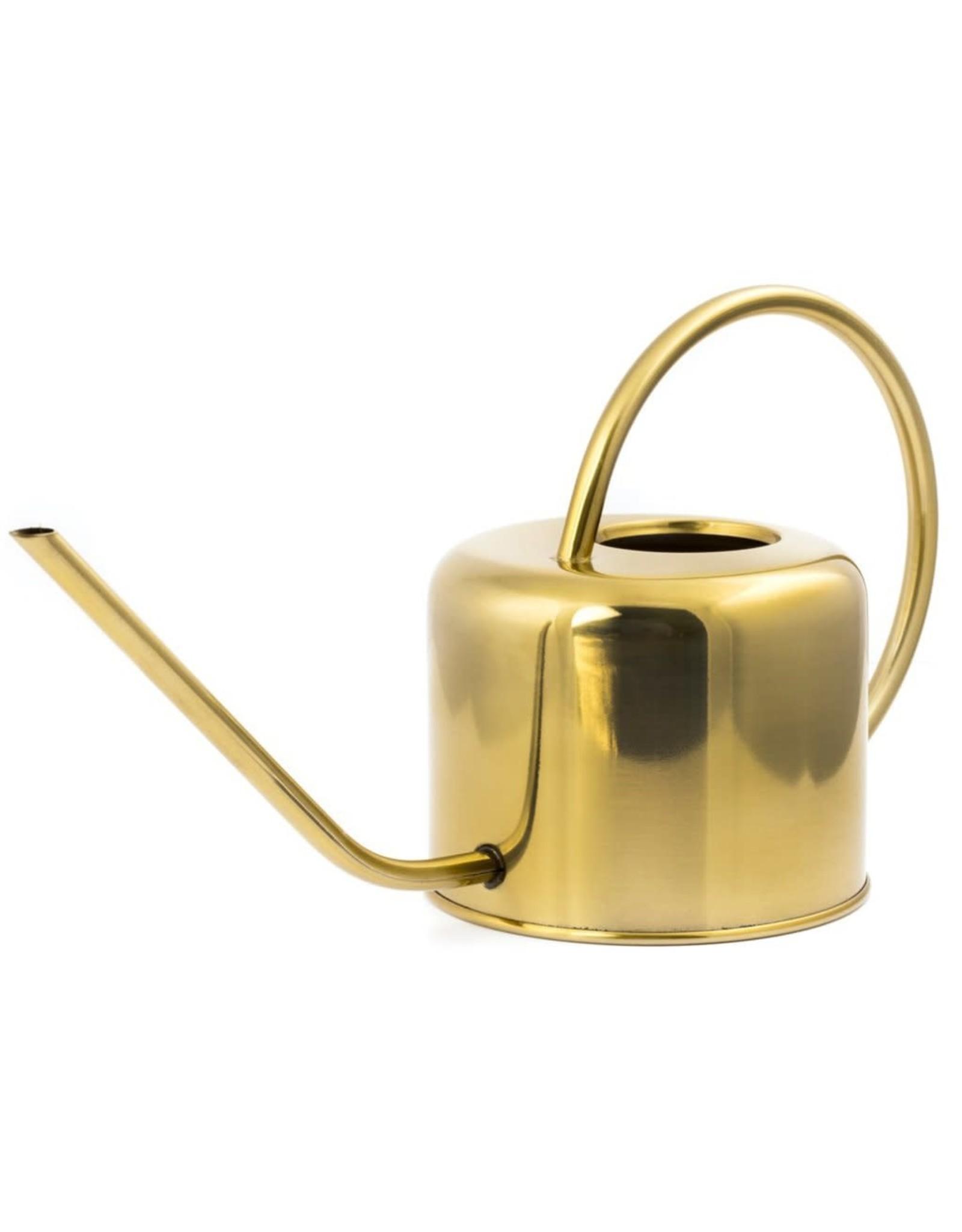 Kikkerland Vintage Brass Watering Can