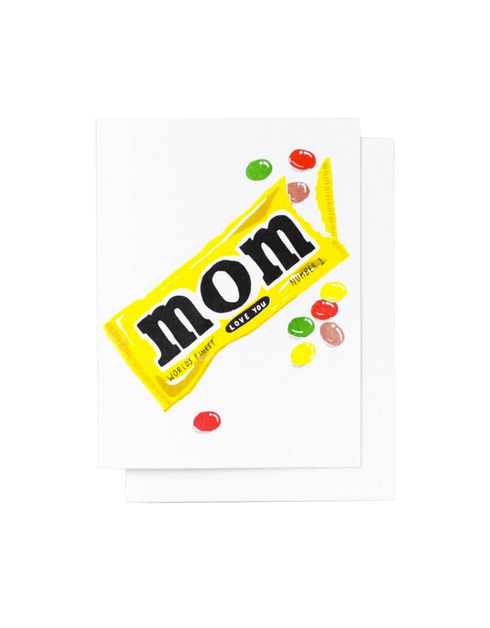 Yellow Owl, Love you Mom Card