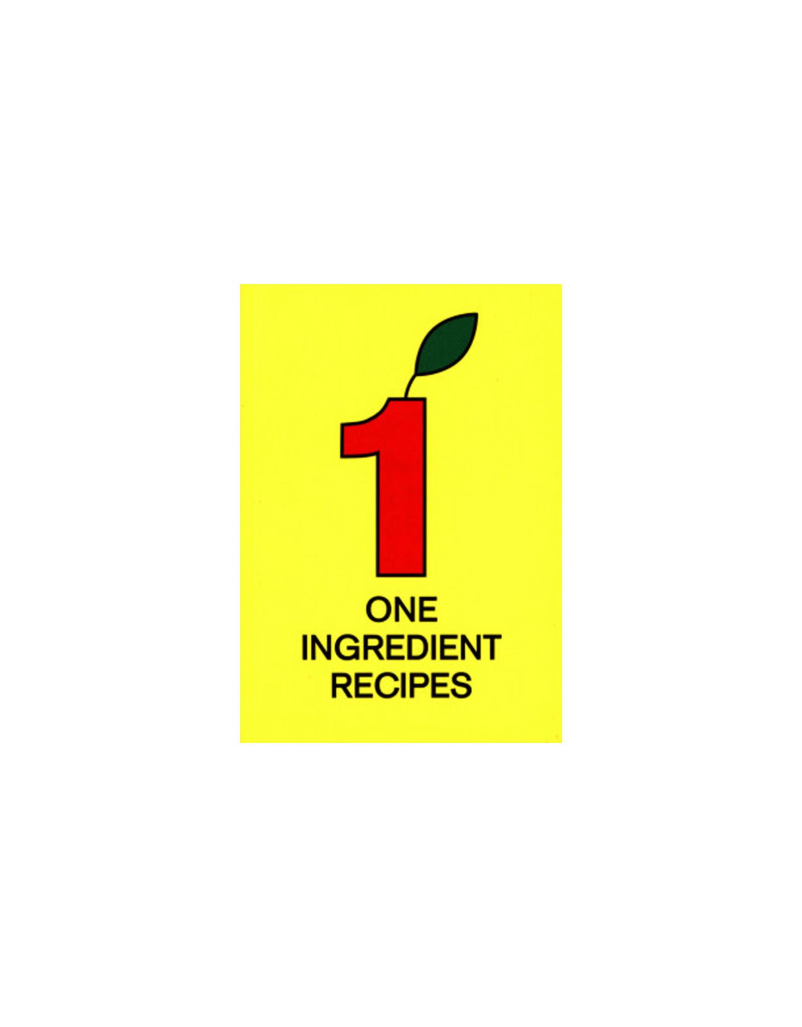 Martijn In 't Veld - One Ingredient Recipes