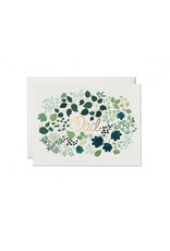 Red Cap Green Floral Dad Card