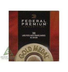 FEDERAL FED PREMIUM LARGE PISTOL MATCH PRMERS 100PK sleeve