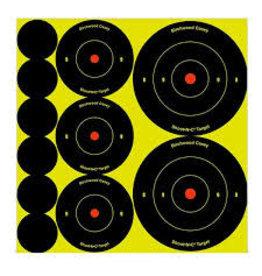 """BIRCHWOOD CASEY BWC SHOOT-N-C 1"""" /2"""" / 3"""" TARGET 132PK"""