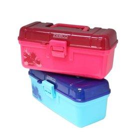 ZEBCO ZEB SPLASH TACKLE BOX ASST COLOR W/ ASST TACKLE