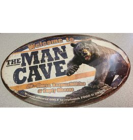 """RIVERS EDGE RE TIN SIGN """"THE MAN CAVE"""""""