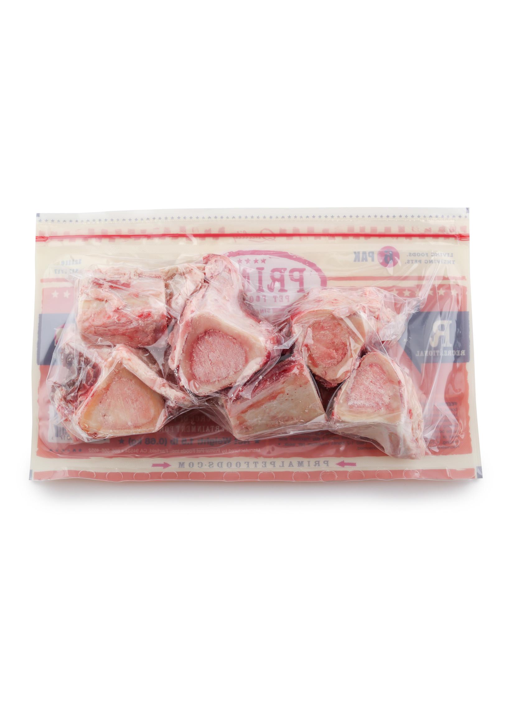"""PRIMAL PET FOODS Primal Raw Beef Marrow Bone 2"""", 6 Pack"""