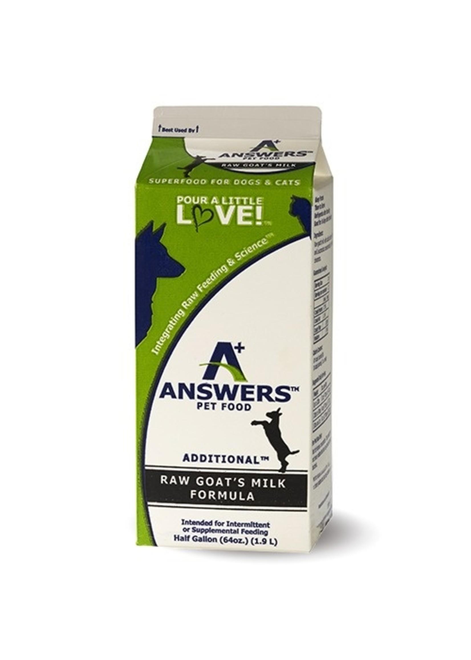 ANSWERS Answers Raw Goat Milk