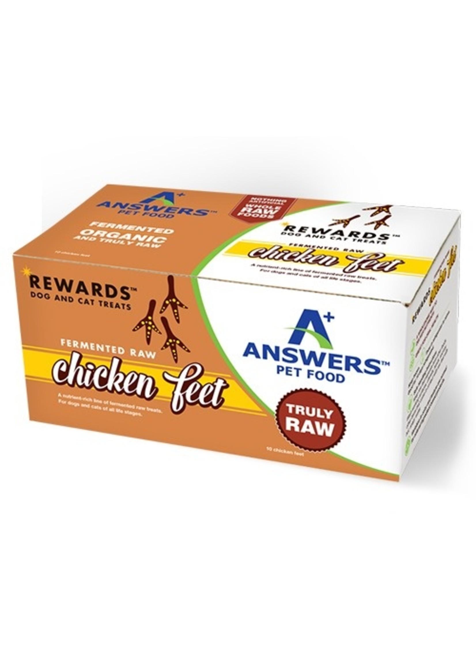 ANSWERS Answers Raw Chicken Feet 10 pk.