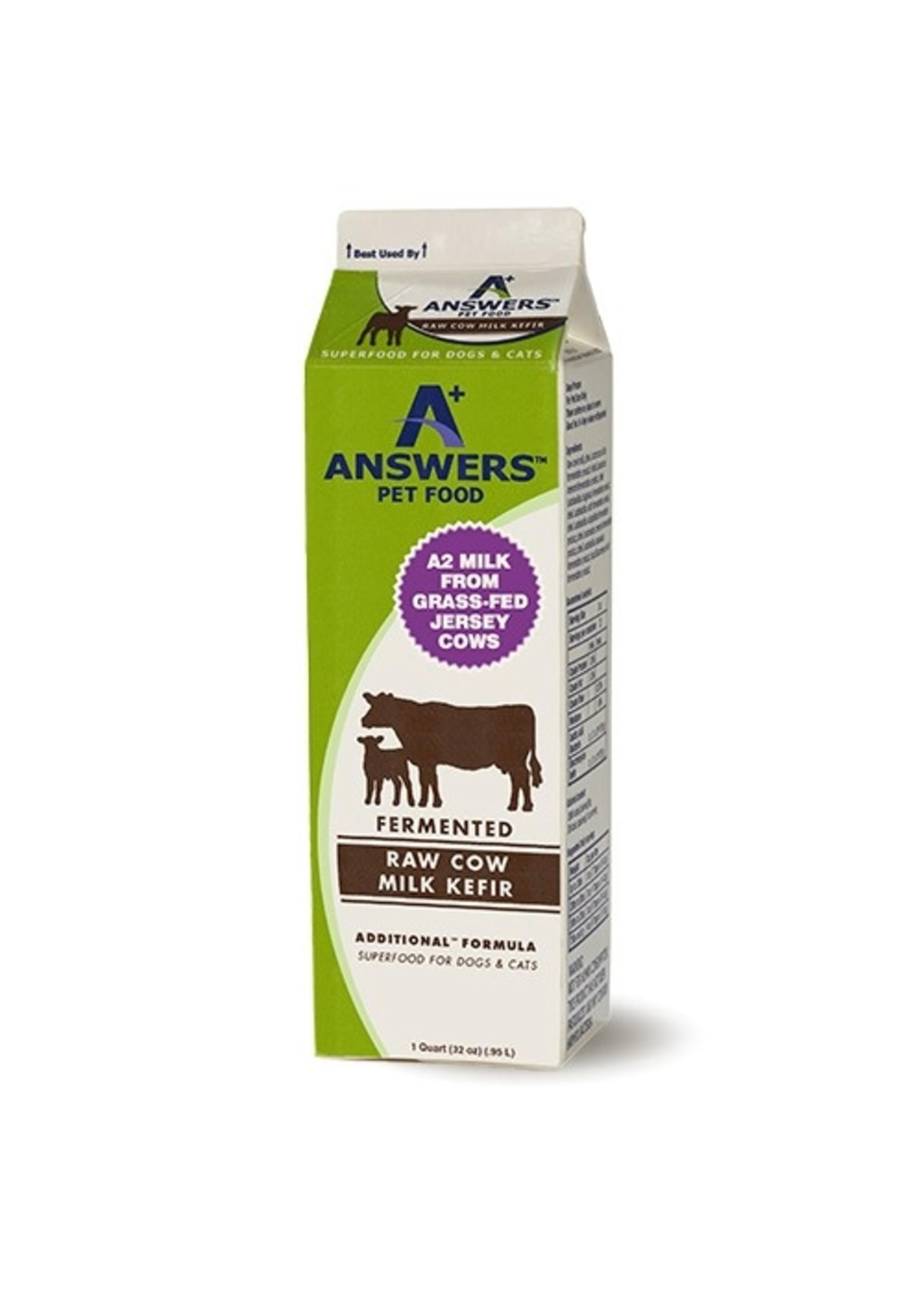 ANSWERS Answers Raw Cow Milk Kefir