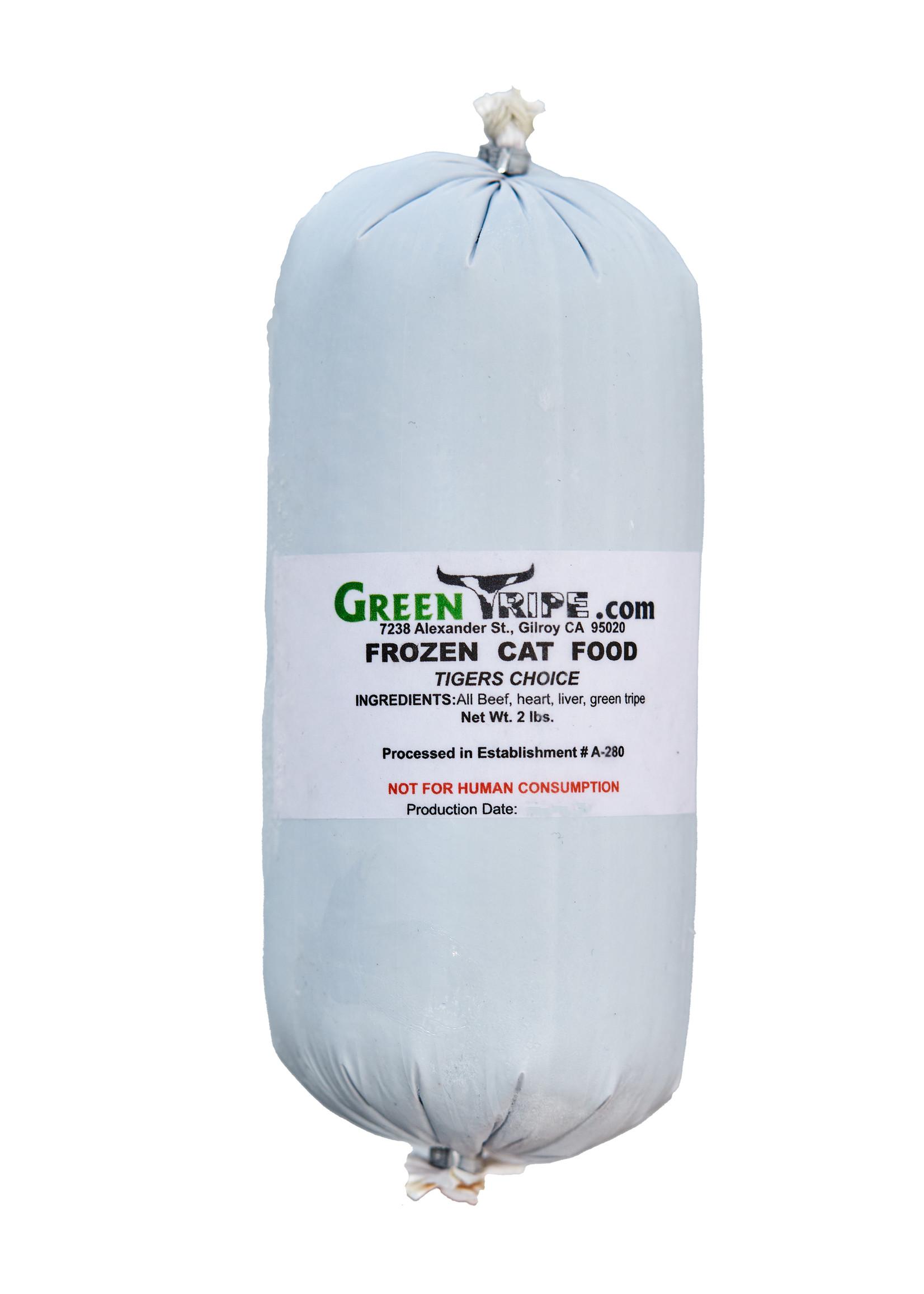 GREEN TRIPE Green Tripe Tiger's Choice Cat Food, 2 lb.