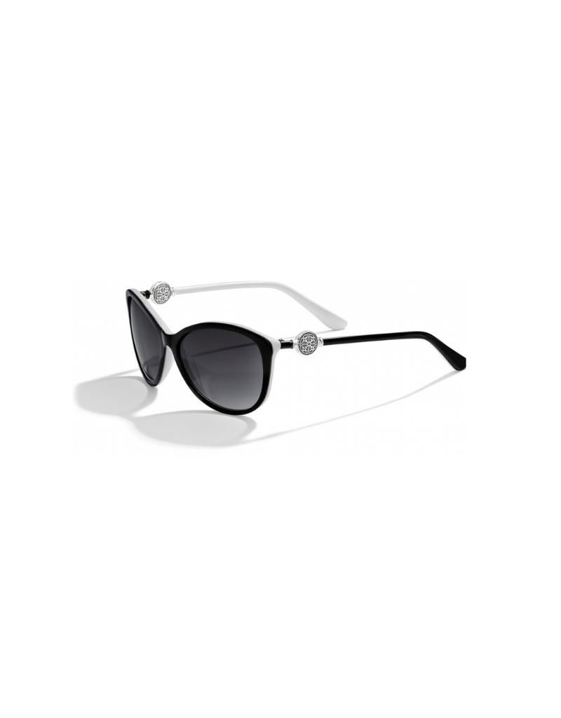 BRIGHTON FERRARA BLACK/WHITE SUNGLASSES