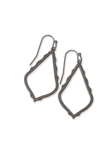 KENDRA SCOTT SOPHIA DROP EARRINGS IN GUNMETAL