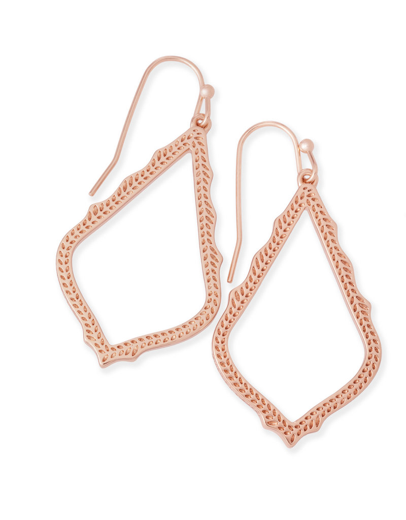 KENDRA SCOTT SOPHIA DROP EARRINGS IN ROSE GOLD