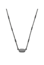 KENDRA SCOTT FERN PENDANT NECKLACE IN GUNMETAL