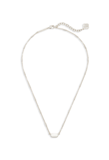 KENDRA SCOTT FERN PENDANT NECKLACE IN BRIGHT SILVER
