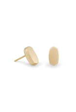 KENDRA SCOTT BARRETT STUD EARRING IN GOLD