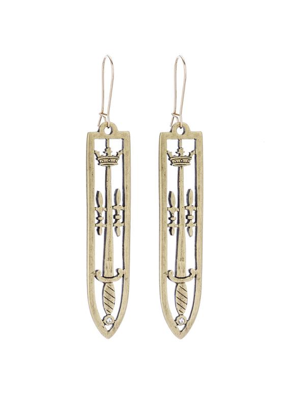 FRENCH KANDE Sword & Crown Earrings