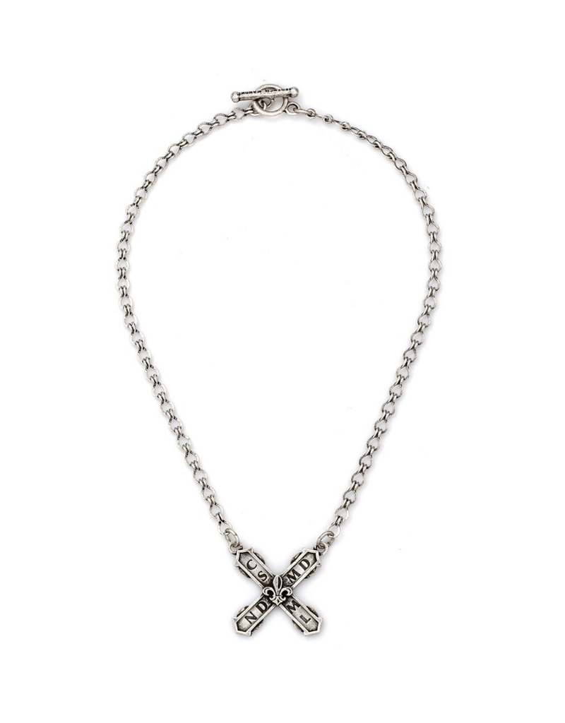 FRENCH KANDE LADDER CHAIN WITH FRENCH KISS PENDANT