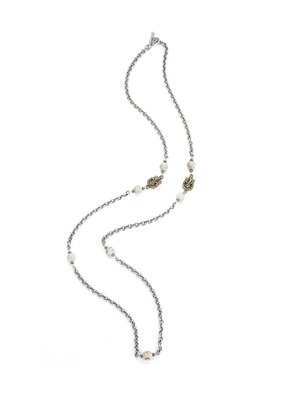 FRENCH KANDE Bordeaux Chain with Mini Ministry Medallions